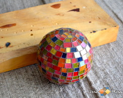 Esfera Decorativa Color em Mosaico Tam P