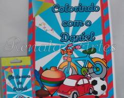 Revista para colorir com giz brinquedos