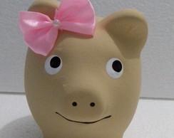 Lembrancinha Porquinha Bege