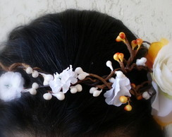 Guirlanda Floral Noiva Head Band