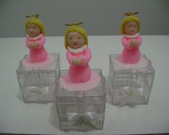 Caixa Acr�lico - Anjinha Rosa