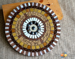 """Mandala de parede em Mosaico """"Gota"""""""