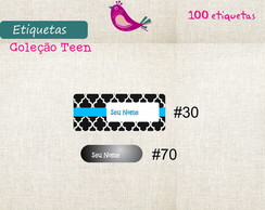 Kit Teen Etiq. Imperm. - 100 etiq