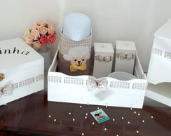 Kit Higiene Ovelhinha -Xadrez Infant�rio