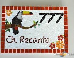 """N�mero Residencial Mosaico""""Tucano"""" Ver"""