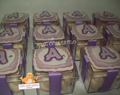 Caixinhas de Acr�lico - Violeta