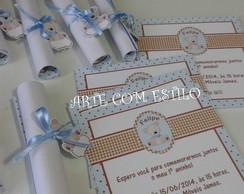 Convite pergaminho - Ursos