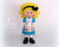 Alice no Pa�s das Maravilhas em feltro