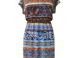 Vestido Arri�re - Tribal azul