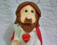 Sagrado Cora��o de Jesus - 16 cm altura