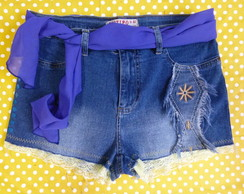short jeans stretch 42/44 cintura alta