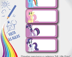 "Etiqueta escolar ""My little pony"""