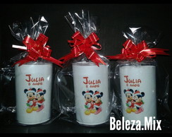 Caneca Acr�lica Natal do Mickey e Minnie