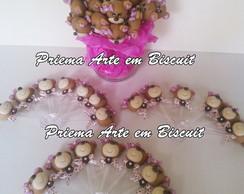colherzinhas ursinha rosa com marrom