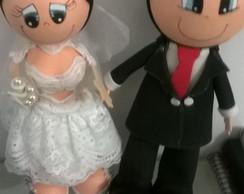 Casal de noivos em eva