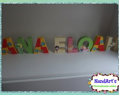 Letras decorativas 3D- Sitio do pica-pau