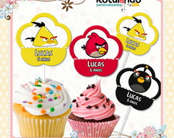 Topper Cupcake Angry Birds