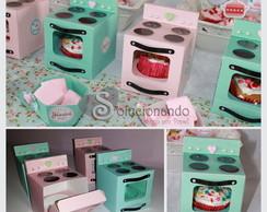 Fog�o de Papel - Caixa para Cupcake