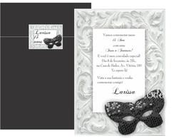 Convite Festa � Fantasia Preto e Branco