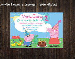 Peppa e George Convite digital Festa