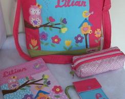 Kit escolar Corujinha personalizado