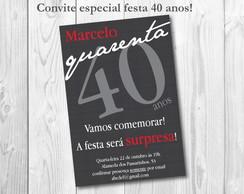 Convite Festa ESPECIAL Masculino