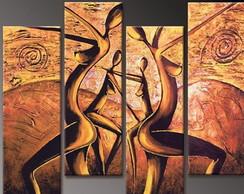 Quadro Abstrato Dan�a �frica Africana 2