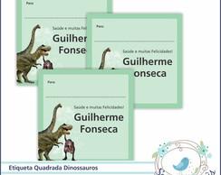 24 Etiquetas Personalizada Dinossauro