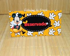 Placa Reservado Mickey