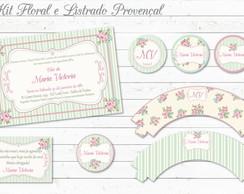 Proven�al Floral e Listrado Kit Festa