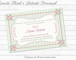 Convite Proven�al Floral com Listras