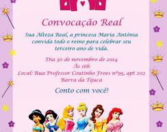 Identidade Visual para Festa Princesas