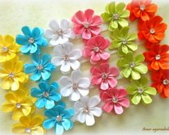 Lacinho Florzinha de Cetim Colorido