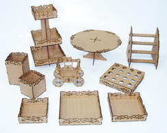 Kit festa Arabeso mdf cru 10 pe�as