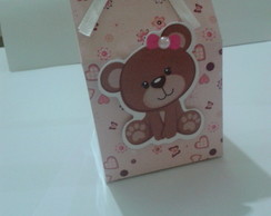 Mini caixa de Leite Ursinha Rosa 3D