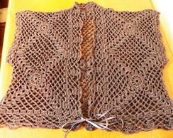 Bolero gray em crochet