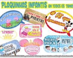 PLAQUINHAS INFANTIS ENGRA�ADAS