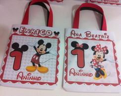 Sacolinha personalizada Mickey ou Minnie