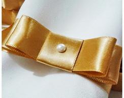 Porta Guardanapo la�o chanel dourado