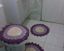 Jogo de banheiro cora��o valente