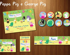 Peppa George Pig Kit Festa � Fantasia