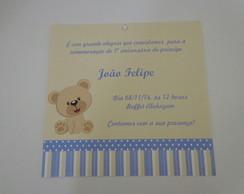 Convite ch� de beb� modelo Ursinho