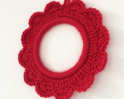 Moldura de croch� - Vermelha - M