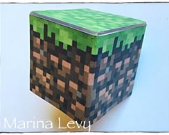 Caixinha Cubo - Minecraft