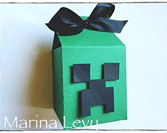 Caixinha scrap - Creeper Minecraft