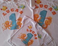 Camiseta anivers�rio para a familia