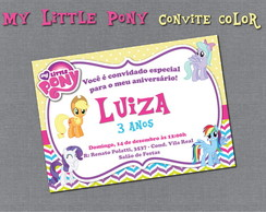 Convite Digital My Little Pony Colors
