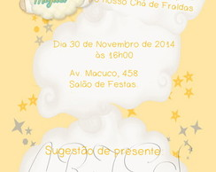 Arte Digital Convite G�meos Ovelha
