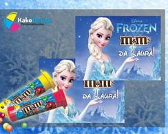 R�tulo Adesivo M&Ms Frozen