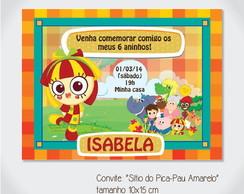 """Convite """"S�tio do Pica-Pau Amarelo"""""""